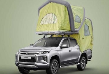 Mitsubishi представил надувной кемпер для грузовиков